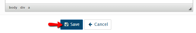 configuring the facebook link