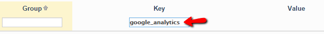 finding the google analytics block