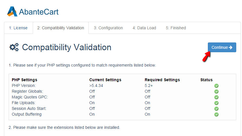Compatibility validation