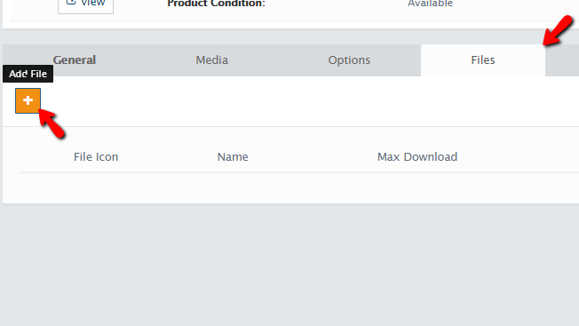 adding files to the newly created product