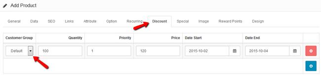 Discount Configuration in Arastta