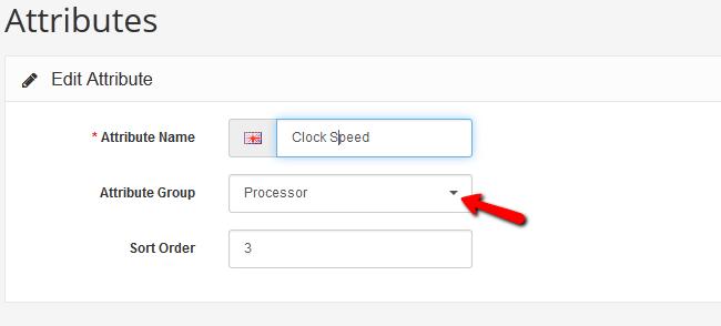 Configuring Attributes in Arastta