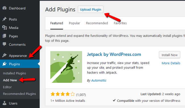 Finding the Upload Plugin function in WordPress