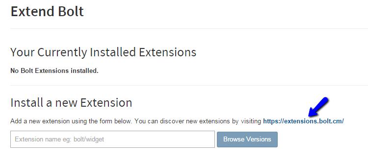 Access Bolt Extensions Directory