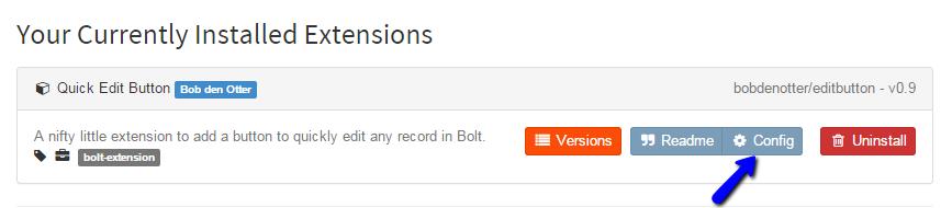 Review Bolt Extension Configuration Options