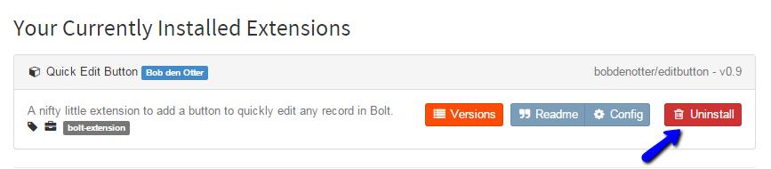 Uninstall Bolt Extension