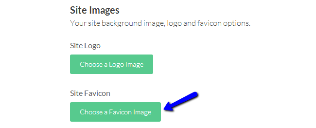 Upload favicon image in Cinematico