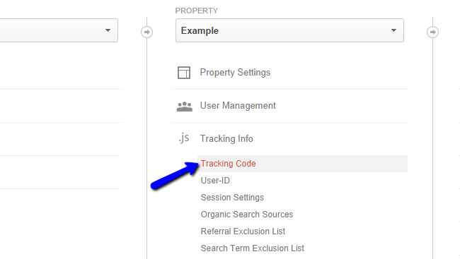 Locate Google Analytics tracking code
