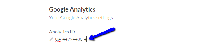 Configure Google Analytics in Cinematico