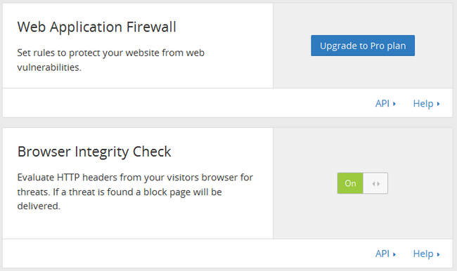 Web Application Firewall in CloudFlare