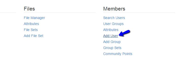 Add user in Concrete5
