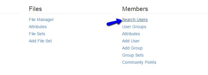 Edit existing user in Concrete5