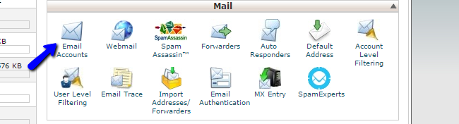 Manage email accounts in cPanel