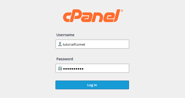 Accessing cPanel