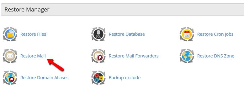 restore mail cpanel