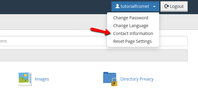 cPanel Update Contact Info