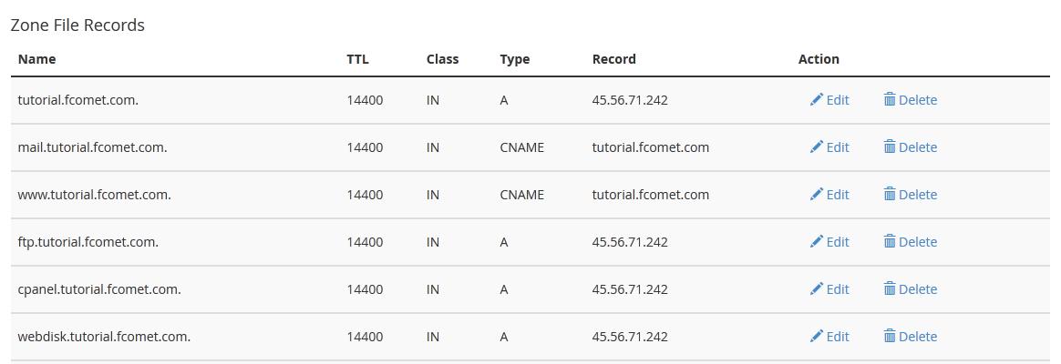 edit domain records