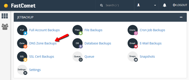 Accessing your DNS Zone Backups via FastComet's cPanel