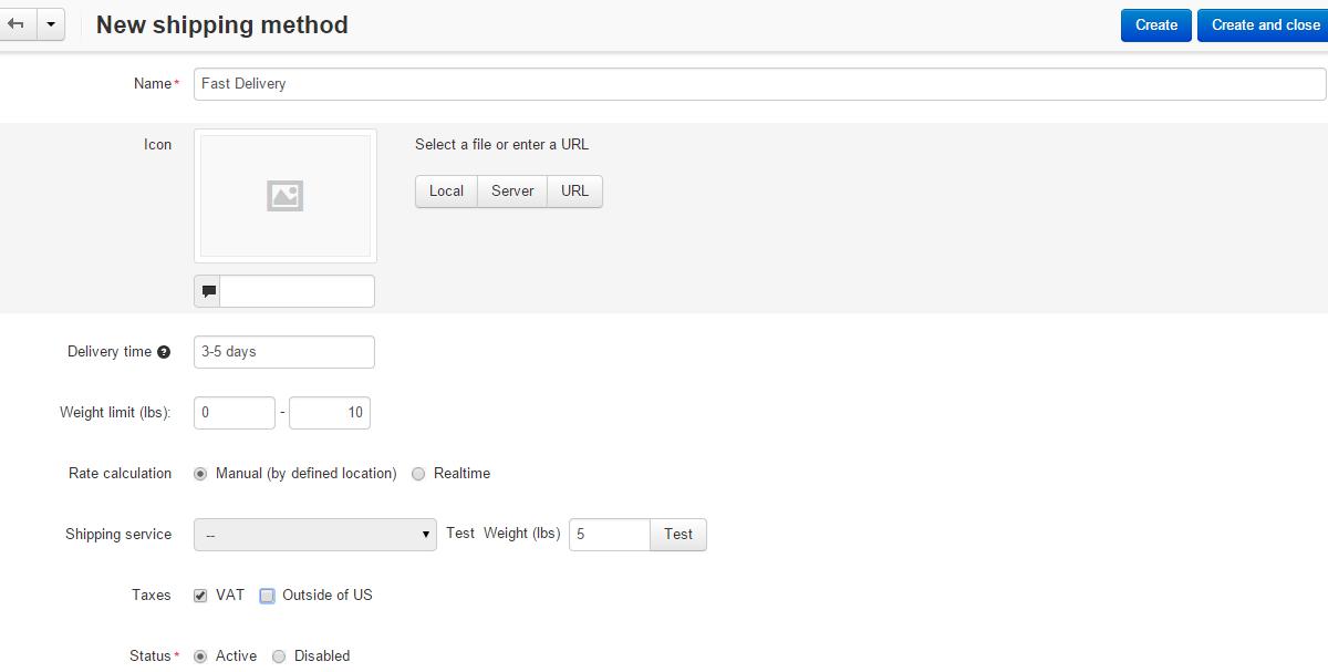 Payment Method Options in CS-Cart