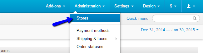 Access store options in CS-Cart