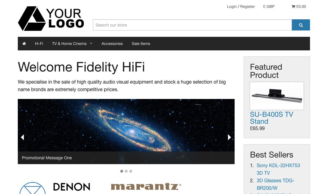 CubeCart Homepage