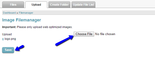 Upload image in CubeCart