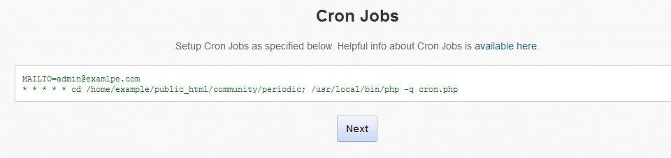 Cron-Configuration