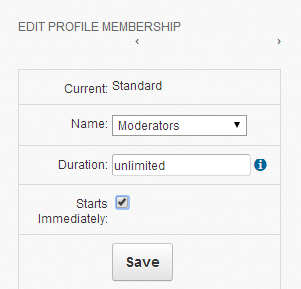 Profile-membership