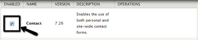 Enable a module in Drupal