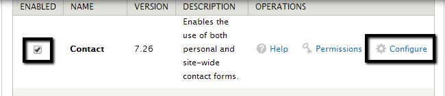 Configure a module in Drupal