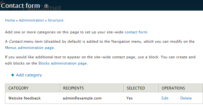 Configuration options for a module in Drupal