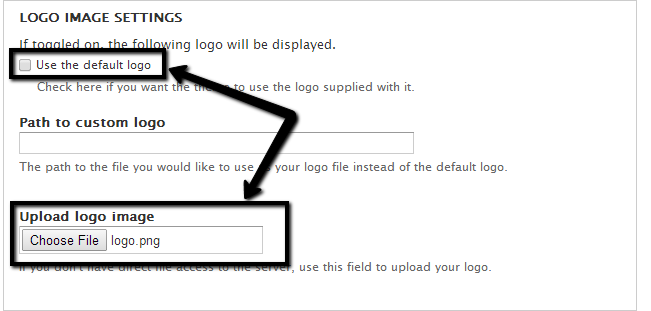 Upload custom logo in Drupal
