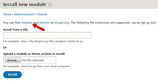 how to install modules in drupal 8 drupal 8 tutorial fastcomet rh fastcomet com CMS Drupal Example Sites Drupal Logo