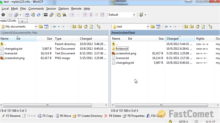 how to change file permission winscp