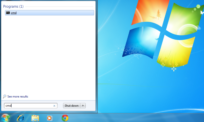 Access Command Promot in Windows XP