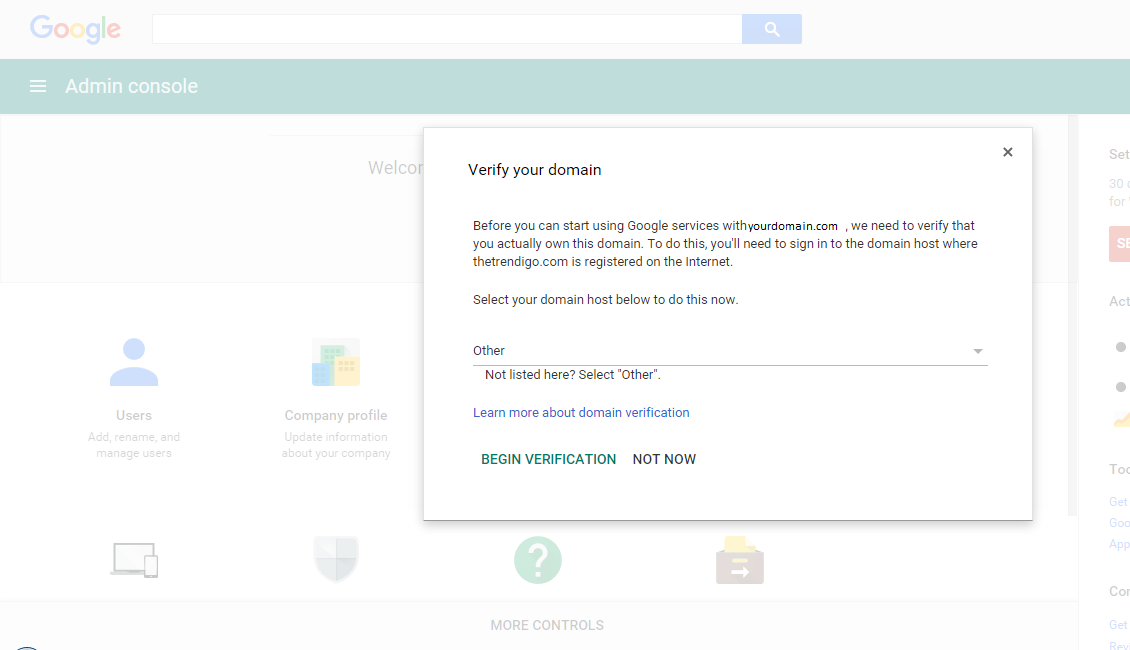 verifying your domain