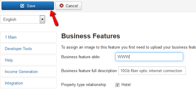 saving business feature