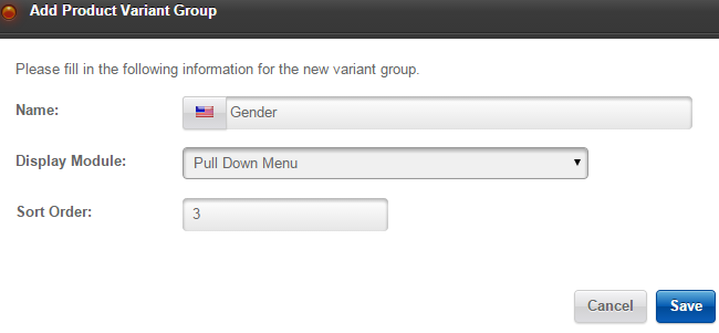 Create options group in Loaded Commerce
