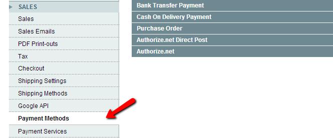 Magento Payment Methods