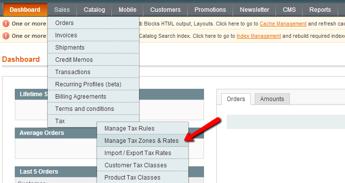Magento Tax Zones and Rates