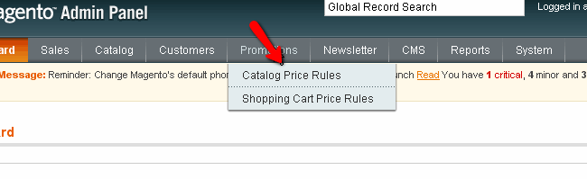 Magento Catalog Price Rules