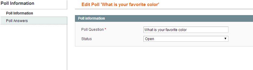 Magento Poll Information