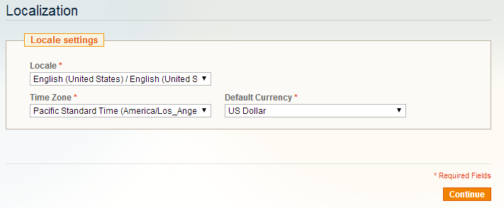 Apply Magento Localization Settings