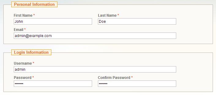 Configure Magento Admin Login Information