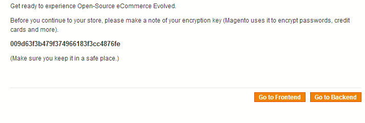 Complete Magento Installation
