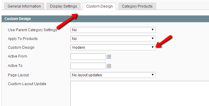 magento category design