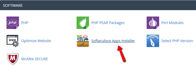 Accessing the Softaculous Auto-Installer in cPanel