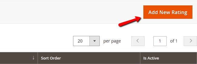 Adding a New Rating in Magento 2