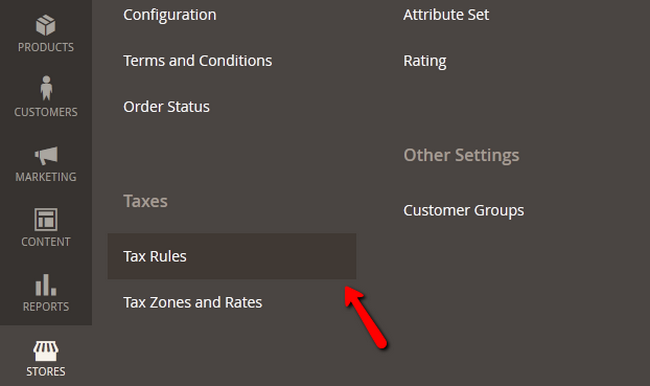 Adding a Tax Rule in Magento 2