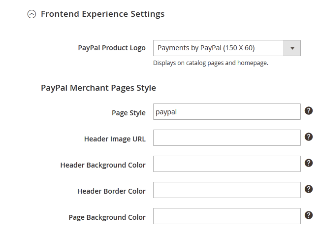 PayPal Express Checkout front-end looks